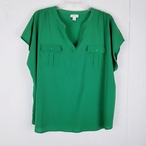 Jaclyn Smith Collection Utility Top Plus Size 3X